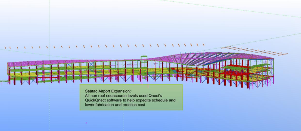 Tekla model of SeaTac North Terminal expansion
