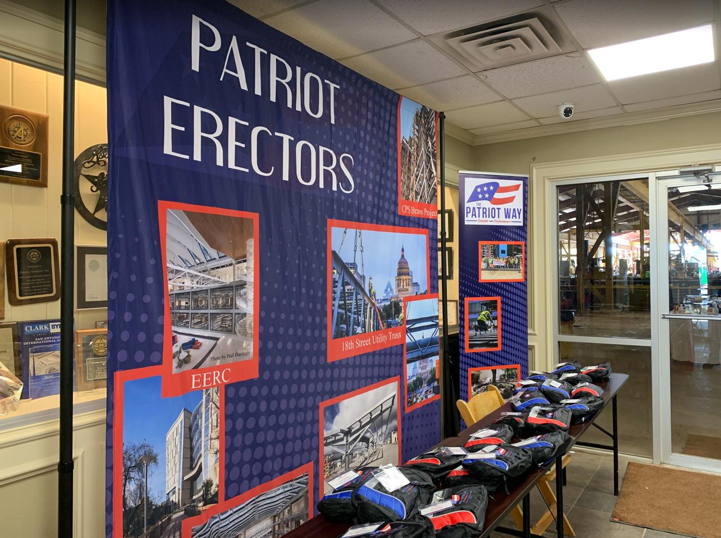 SteelDay 2019 - Patriot Erectors Sign